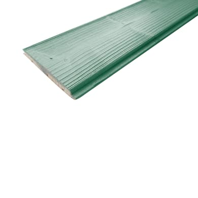 Perlina abete verniciato verde 1° scelta L 200 x H 12 cm Sp 1.2 mm