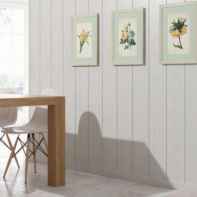 Perlina mdf opaco bianco L 218 x H 20 cm Sp 8 mm