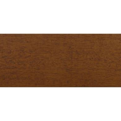 Coprifilo in legno legno massello noce scuro L 2250 x P 10 x H 70 mm