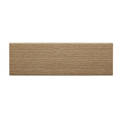 Coprifilo in legno carta<multisep/>mdf rovere L 2250 x P 10 x H 65 mm
