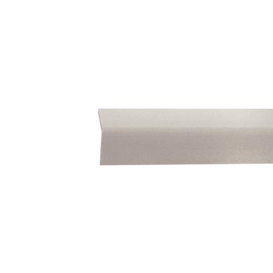 Paraspigolo in pvc grigio L 3 m x H 24 x Sp 2.5 mm