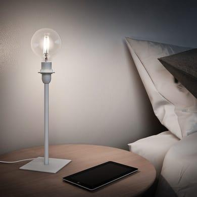 Base per lampada da terra Linz bianco, H 27 cm, E14 MAX40W N/A