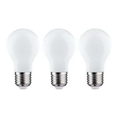 Set di 3  lampadine LED filamento, E27, Goccia, Opaco, Luce calda, 7.5W=806LM (equiv 60 W), 360° , LEXMAN
