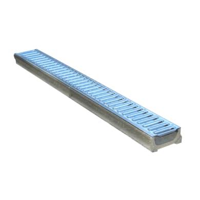 Canale con griglia in cemento 100 x 12 x 5 cm