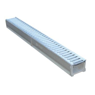 Canale con griglia in cemento 100 x 12 x 8.5 cm