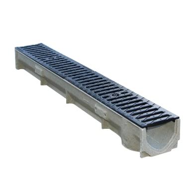 Canale B125 con griglia in cemento 100 x 13 x 9.5 cm