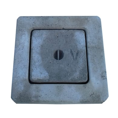 Chiusino in cemento L 30 x H 30 cm