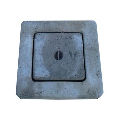 Chiusino in cemento L 40 x H 40 cm
