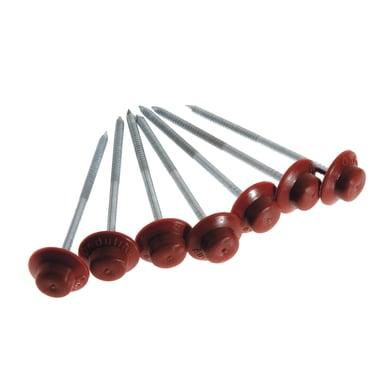 Chiodo ONDULINE in acciaio H 6 cm Ø 0.3 cm rosso , 400 pezzi