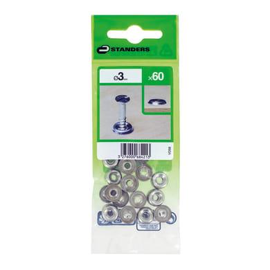 Coprivite STANDERS Tondo in acciaio grigio / argento 60 pezzi