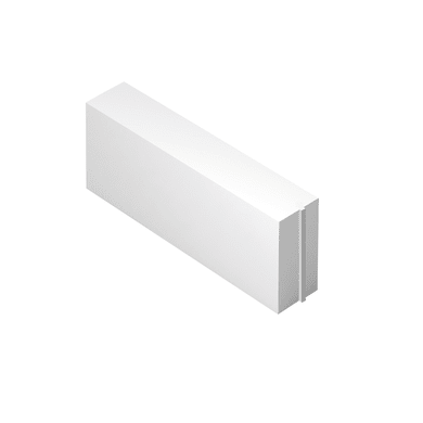 Blocco in calcestruzzo cellulare Siporex 62.5 cm, Sp 12 cm, bianco