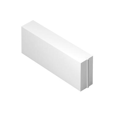 Blocco in calcestruzzo cellulare Siporex 62.5 cm, Sp 20 cm, bianco
