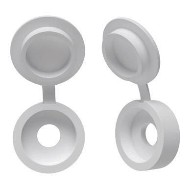 Coprivite STANDERS Tondo in plastica bianco Ø 4 mm 10 pezzi