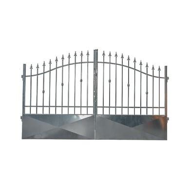 Cancello Stromboli in ferro zincato L 350 x H 150 - 180 cm