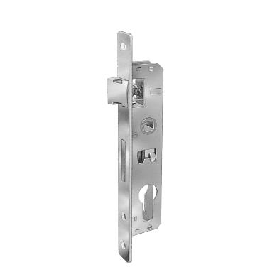 Serratura a incasso cilindro per cancello o rete, entrata 2.7 cm, interasse 58.5 mm