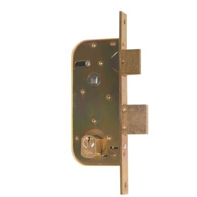 Serratura a incasso cilindro per cancello o rete, entrata 3.5 cm, interasse 80 mm