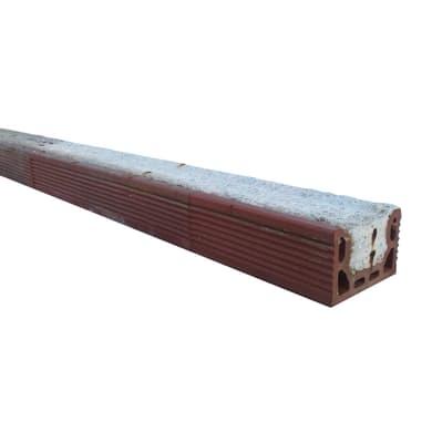 Architrave prefabbricata in cemento L 100 x H 12 x P 7 cm