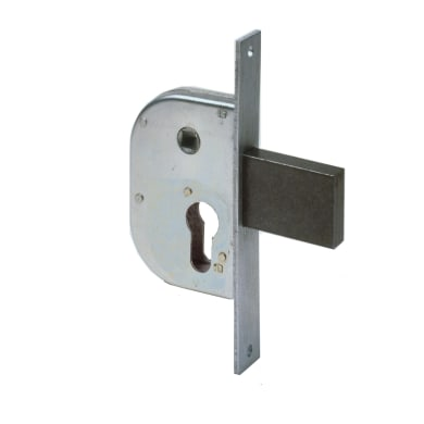 Serratura a incasso cilindro per cancello o rete, entrata 3 cm, interasse 42.5 mm