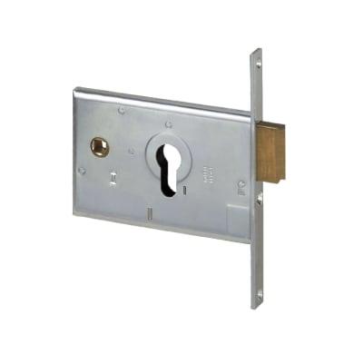 Serratura a incasso cilindro per cancello o rete, entrata 6 cm, interasse 82 mm