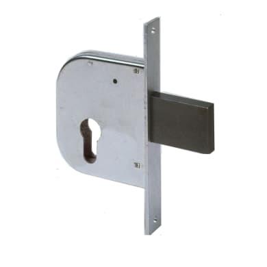 Serratura a incasso cilindro per cancello o rete, entrata 5 cm, interasse 95 mm