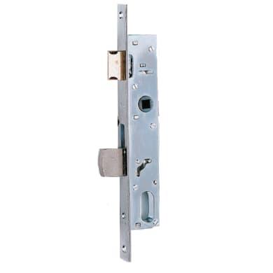 Serratura a incasso cilindro per cancello o rete, entrata 1.6 cm, interasse 85 mm