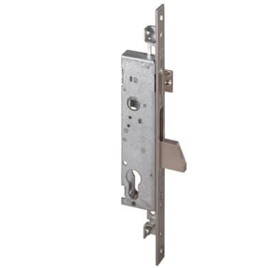 Serratura a incasso cilindro per cancello o rete, entrata 2.5 cm, interasse 85 mm