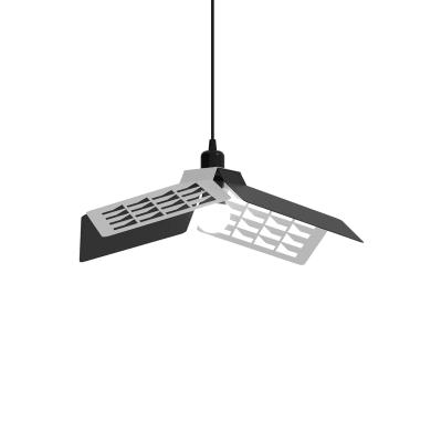 Lampadario Design Geo bco/nero in vetro