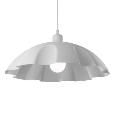 Lampadario Design Hanky bianco in vetro, D. 40 cm