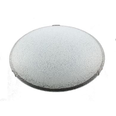 Plafoniera Reflex bianco, in vetro,