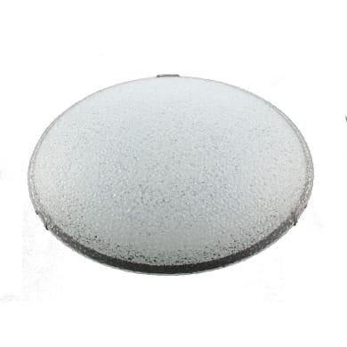 Plafoniera Vela LED integrato bianco, in vetro,