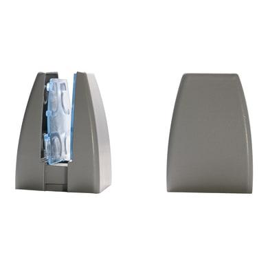 Reggimensola supporto pannelli 4-20 mm L 4 x H 6.5 x P 20 cm grigio / argento