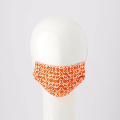 Maschera in tessuto lavabile per utilizzo non sanitario Arabo arancio 2 pezzi