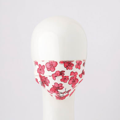 Maschera in tessuto lavabile per utilizzo non sanitario Flower 2 pezzi