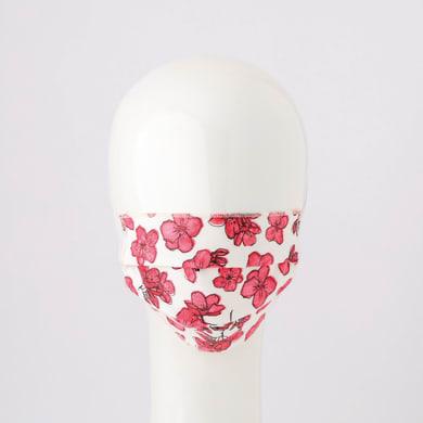 Maschera in tessuto lavabile per utilizzo non sanitario Flower rosa 2 pezzi
