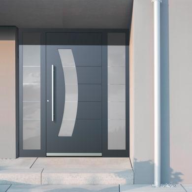 Portoncino d'ingresso QS70 grigio L 170 x H 210 cm sinistra