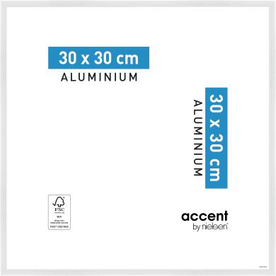Cornice Accent bianco per foto da 30x30 cm