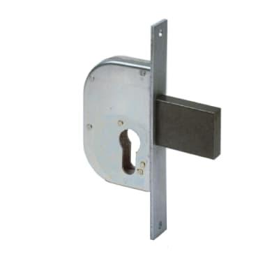 Serratura a incasso cilindro per cancello o rete, entrata 3 cm, interasse 95 mm