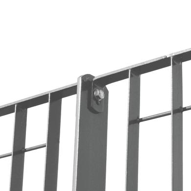 Recinzione piantana a tassellare in acciaio L 6 x H 153 x P 0.7 cm