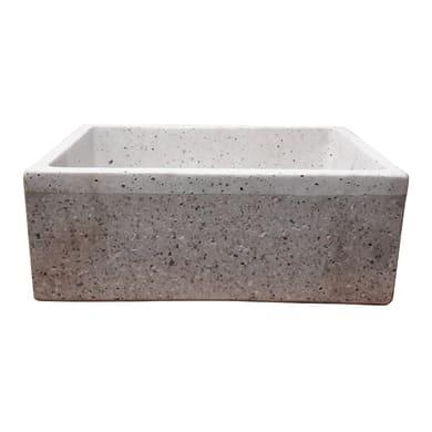 Lavabo da giardino in cemento H 20 cm, 47 x 36 cm