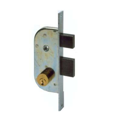 Serratura a incasso cilindro per cancello o rete, entrata 3 cm, interasse 57 mm
