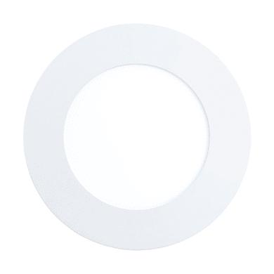 Faretto fisso da incasso tondo Fueva-CW in metallo, bianco, diam. 12 cm 3x12cm LED integrato 4,8W 610LM IP65 EGLO