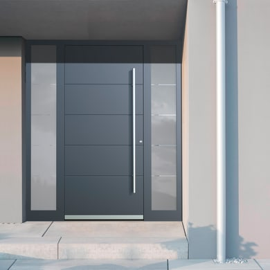 Portoncino d'ingresso QF20 grigio L 170 x H 210 cm sinistra