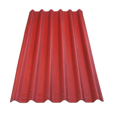 Lastra ONDULINE Easyfix in bitume 81 x 200 cm, Sp 2.7 mm rosso