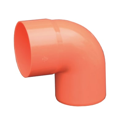 Curva arancione in PVC 87° Ø50 mm