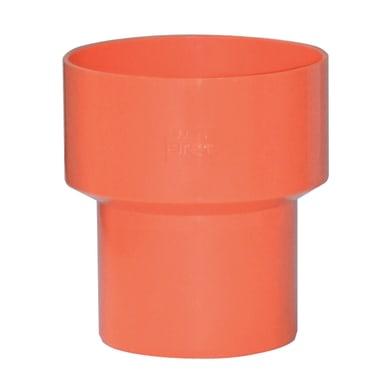 Raccordo di riduzione arancione in PVC Ø63/Ø100 mm