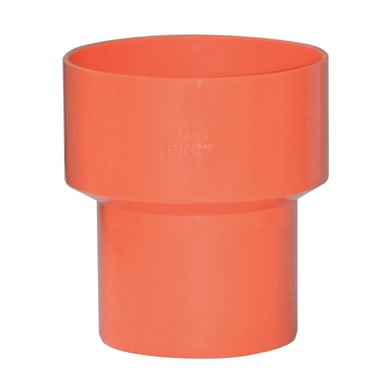 Raccordo di riduzione arancione in PVC Ø50/Ø63 mm