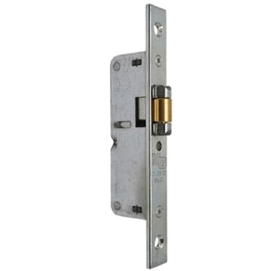 Serratura a incasso cilindro per cancello o rete, entrata 1.4 cm, interasse 0 mm