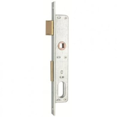 Serratura a incasso cilindro per cancello o rete, entrata 1.4 cm, interasse 68 mm