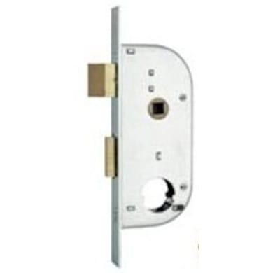 Serratura a incasso cilindro per cancello o rete, entrata 3.2 cm, interasse 62 mm