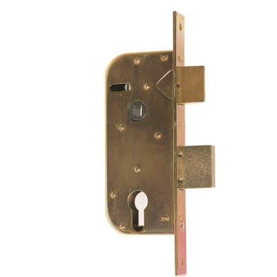 Serratura a incasso cilindro per cancello o rete, entrata 3.5 cm, interasse 110 mm
